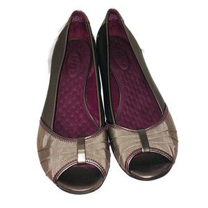 Privo by Clark's Gold Tone Open Toe Comfort Shoes